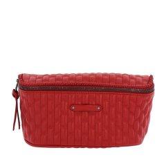 Longchamp/珑骧 菱格纹经典复古风红色皮质女士单肩包斜挎包 L8061 941 545图片