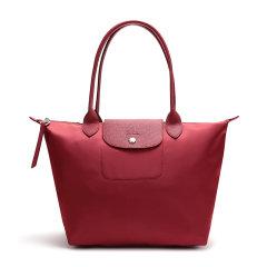 Longchamp/珑骧 经典款黑色/海军蓝色/橙色/红色尼龙可折叠手提包单肩腋下包L2605 598 006图片