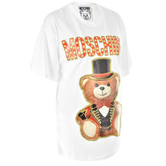 MOSCHINO/莫斯奇诺  泰迪熊系列长款女士短袖T恤上衣 女款  -E V0702 0540 3555图片