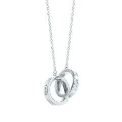 【预售9月10号左右发货】Tiffany & Co./蒂芙尼1837 系列时尚双环吊坠项链 22992139图片
