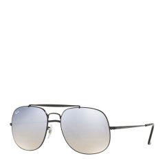 Ray-Ban/雷朋 时尚 复古 方形 将军款 飞行员 蛤蟆镜 男女款 太阳镜 银色镜框 渐变反光 镜片 墨镜 眼镜 RB3561 57mm RayBan 雷朋图片