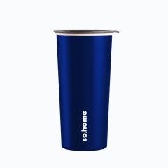 【星巴克同款】sohome/sohome  ins风珐琅办公杯不锈钢咖啡杯大号欧式带盖随手杯星巴克同款图片