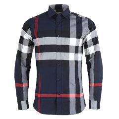 BURBERRY/博柏利巴宝莉衬衫男士长袖衬衫格纹衬衫图片