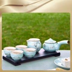Miracle Dynasty/玛戈隆特 MD 行云系列7头本如茶具 四人份功夫茶具 家用茶具套装图片