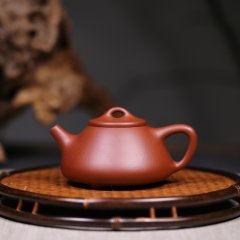 JUNTAOJU/君陶居海派三心斋 『子冶石瓢』 紫砂壶280CC图片
