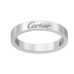 【预售两周发货】卡地亚 Cartier 戒指 C de Cartier结婚对戒 950‰铂金 宽3毫米 B4054000图片
