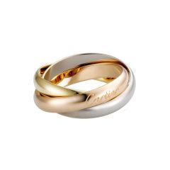 【预售两周发货】卡地亚 Cartier 戒指 TRINITY戒指,经典款,中号款 ,白金,玫瑰金,黄金 宽度:3.53毫米 B4052700图片