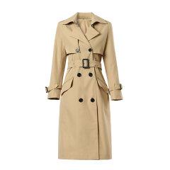 【DesignerWomenwear】Fate Flight/Fate Flight/女装>女士外套>女士风衣/双排扣腰带法式纯色风衣外套图片