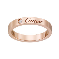 【预售两周发货】卡地亚 Cartier 戒指 C DE CARTIER结婚对戒 玫瑰金,镶嵌一颗圆形明亮式切割钻石,重0.03克拉 宽度:3毫米 B4086400图片