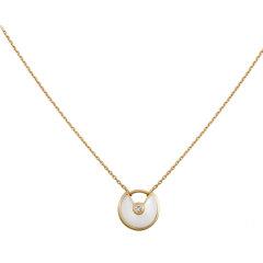 【预售两周发货】卡地亚 Cartier 项链 AMULETTE DE CARTIER项链,超小号款 黄金  B3047100图片