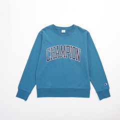 日版 Champion冠军 男女同款 圆领卫衣 胶印 大字母logo 运动休闲卫衣图片