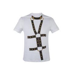 VERSACE/范思哲棉质白色男士短袖T恤A84155 A228806 A001图片