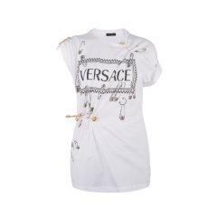 VERSACE/范思哲棉质白色女士短袖T恤A83859 A201952 A1001图片