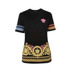 VERSACE/范思哲棉质黑色女士短袖T恤A83854 A201952 A1008图片