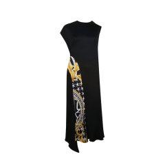 VERSACE/范思哲印花黑色女士连衣裙长裙A83196 A231033 A7900图片
