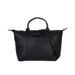Longchamp/珑骧 新品 经典黑色皮质logo短柄大容量出行旅行短柄单肩包手提包 L1515 757 001图片