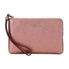 COACH/蔻驰奢侈品女士紫粉色人造革短款手拿包零钱包F58032QBPH4图片