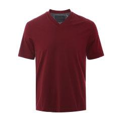 PRADA/普拉达 V领 男士短袖T恤 短T 上装 SJN241 1S6Q F0JEY图片