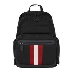 BALLY/巴利 男士黑色红白条纹织物双肩包 CHAPMAY TSP 10 6220455图片