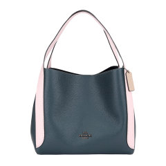 COACH/蔻驰奢侈品女士专柜款大号墨绿拼粉色皮革皮质手提单肩包76088V5PTO图片