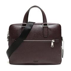 COACH/蔻驰奢侈品男士专柜款皮质手提包公文包商务包大号深酒红色55567SVOXB图片