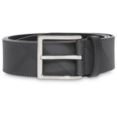 BURBERRY/博柏利 皮带经典款男士灰色格纹针扣皮带腰带【预售,5到15天发货】图片