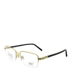 【可配镜片】MontBlanc/万宝龙 商务休闲半框长方形男士光学镜架近视眼镜框眼镜架 MB738D 57mm图片