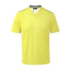 PRADA/普拉达 黄色V领男士短袖T恤 短T 上装 SJN240 1S6P F094N图片
