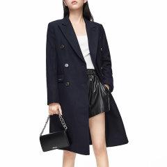 MO&Co./摩安珂女士大衣冬季复古双排扣毛呢外套MBO4OVCX01图片