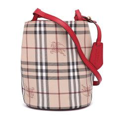 【包税 】BURBERRY/博柏利   经典款战马格纹女士斜挎包水桶包图片