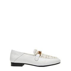 【2020秋冬新款】 EVER UGG/EVER UGG 女士乐福鞋 牛皮+格纹花呢布女士羊毛内里乐福鞋图片
