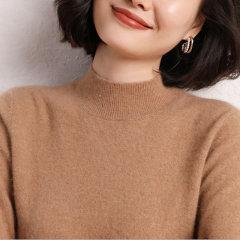 【DesignerWomenwear】Fate Flight/Fate Flight/女装>女针织衫/毛衣>女士针织衫/毛衣/半高领打底衫修身保暖羊绒衫图片