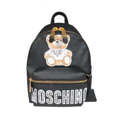 【包邮包税】MOSCHINO/莫斯奇诺女士涂鸦熊印花双肩包2A76368210图片