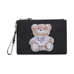 【包税】MOSCHINO/莫斯奇诺女士涂鸦熊印花手拿包2T84448210图片