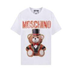 【包税】MOSCHINO/莫斯奇诺女士时尚马戏团魔术熊印花短袖T恤ET07020540图片