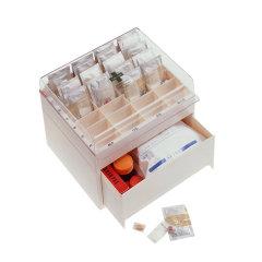 日本进口Shinko家庭常备药箱  双层分格式早中午急救箱   常用药品收纳箱图片