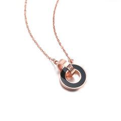 Daisy Fellowes/黛西法罗 经典款罗马双环母贝双色钻石项链 套链图片