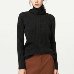【DesignerWomenwear】Fate Flight/Fate Flight/女装>女针织衫/毛衣>女士针织衫/毛衣/纯色高领软糯百搭修身款羊毛衫图片