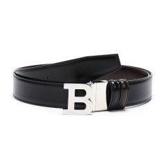 【现货秒发】BALLY/巴利 男士皮质扳扣式双面皮带腰带 B BUCKLE 35 M图片