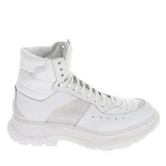 Alexander McQueen/亚历山大麦昆 20年秋冬 百搭 男性 logo 白色 男士短靴 627221 WHRH6 9071图片