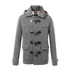 【海外奥莱直采】BURBERRY/博柏利  burberry 巴宝莉 羊毛混纺牛角扣男士短款大衣 男装 外套 39841911图片