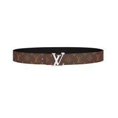 【包税】Louis Vuitton/路易威登  男士腰带LV INITIALES 40毫米双面皮带石墨灰图片