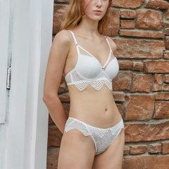 【DesignerWomenwear】Adorre Gaea法式性感下摆蕾丝小胸聚拢侧收女士内衣套装图片