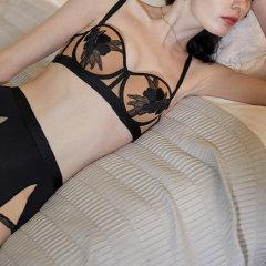 【DesignerWomenwear】Adorre Gaea法式性感高腰裤1/2杯文胸有钢圈小胸聚拢薄款半杯内衣套装图片