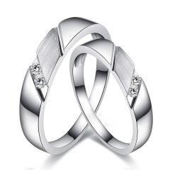 mingzuan/鸣钻国际 爵士 钻戒钻石戒指情侣钻石对戒男女款结婚订婚戒指 9k金版图片