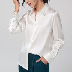 【DesignerWomenwear】Fate Flight/Fate Flight/女装>女士衬衫>女士长袖衬衫/桑蚕真丝气质简约基础款职业装长袖衬衣图片