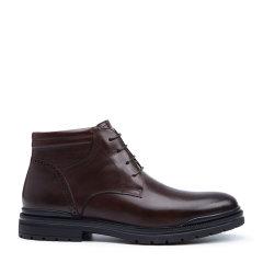 ELLE/ELLE保暖皮靴加绒高帮男士靴子商务马丁靴英伦风工装鞋男士短靴图片