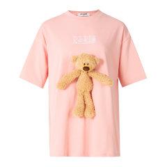 13 DE MARZO/13 DE MARZO 【赵丽颖同款】21春夏 胸前小熊圆领多色可选 女士短袖T恤图片