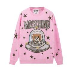 【双十一同价】【包税】MOSCHINO/莫斯奇诺   女士太空熊印花套头针织衫  D V0905 5401图片