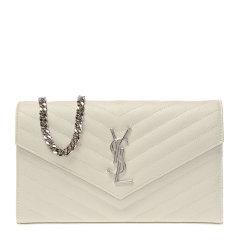 【包税】SAINT LAURENT PARIS/ 圣罗兰 MONOGRAM系列 女士牛皮V字金属logo绗缝时尚链条包单肩斜挎包图片
